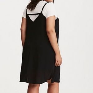 NWT Torrid Black Slip Dress Back Strap Detail D45